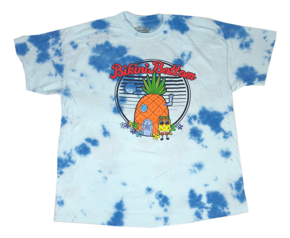 Spongebob Squarepants Bikini Bottom Men's Tie Dye T Shirt - tshirtconnect