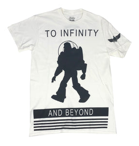 Disney Toy Story Men's T Shirt Buzz Lightyear To Infinity And Beyond Disneyland - tshirtconnect