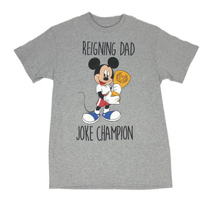 Disney Mickey Mouse Reigning Dad Joke Champion Men's T Shirt - tshirtconnect