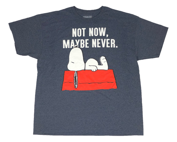 Peanuts Snoopy Not Now Maybe Never Men's T Shirt - tshirtconnect