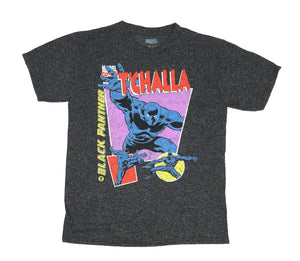Marvel Comics Black Panther T'Challa Distressed Retro Men's T Shirt - tshirtconnect