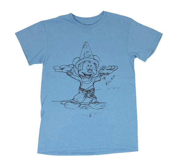 Disney Mickey Mouse Fantasia Sketch Retro Men's T Shirt - tshirtconnect
