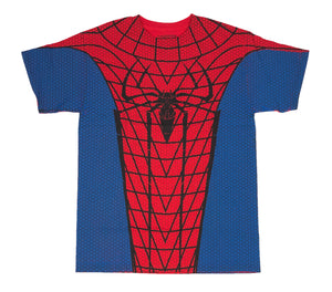 Marvel Comics Spider Man Printed Costume Cosplay Men's T Shirt - tshirtconnect