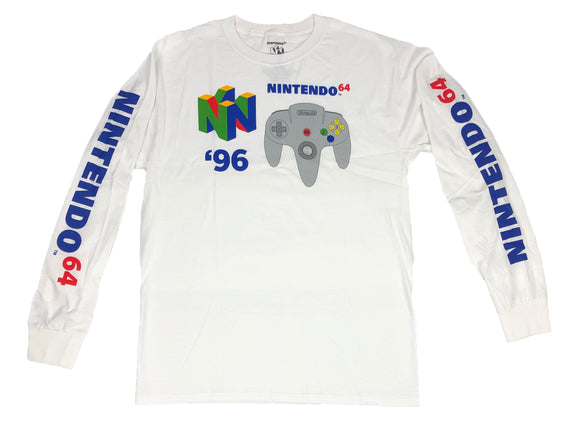 Nintendo N64 96 Controller Video Game Men's Long Sleeve T Shirt - tshirtconnect