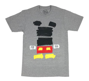 Disney Men's T Shirt Mickey Mouse Wall Painting Simple Logo - tshirtconnect
