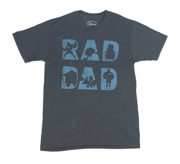 Disney Men's T Shirt Rad Dad The Incredibles Finding Nemo Fathers Day Gift - tshirtconnect