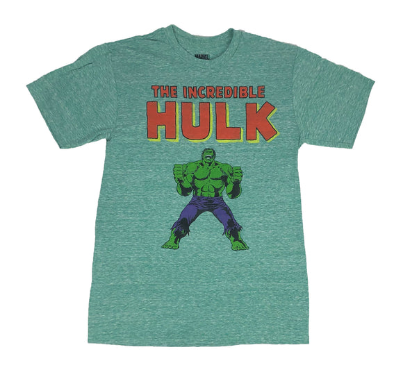 Marvel Comics The Incredible Hulk Retro Logo Men's T Shirt - tshirtconnect