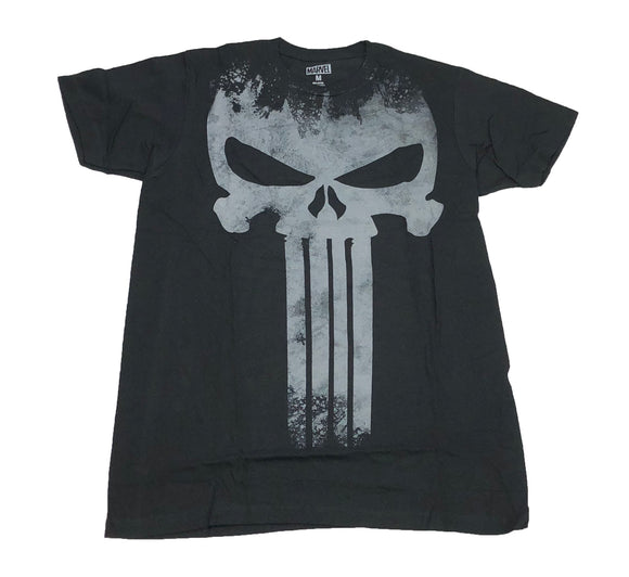 Marvel Comics The Punisher Big Skull Logo Distressed Frank Castle Men's T Shirt - tshirtconnect