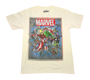 Marvel Comics Avengers Defenders Guardians Of The Galaxy Group Shot Men's T Shirt - tshirtconnect