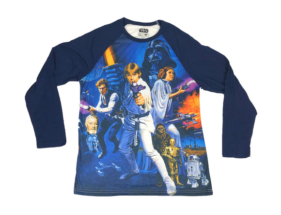 Star Wars Episode IV A New Hope Full Color Sublimated Men's Long Sleeve Shirt - tshirtconnect