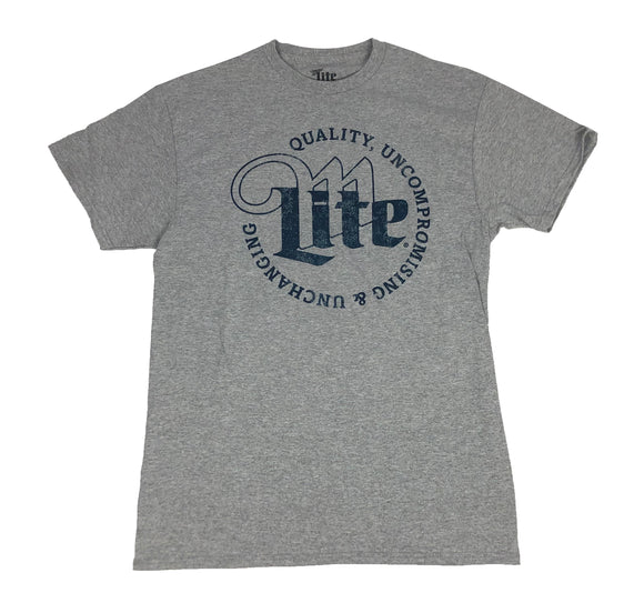 Miller Lite Beer Logo Shield Distressed Men's T Shirt - tshirtconnect