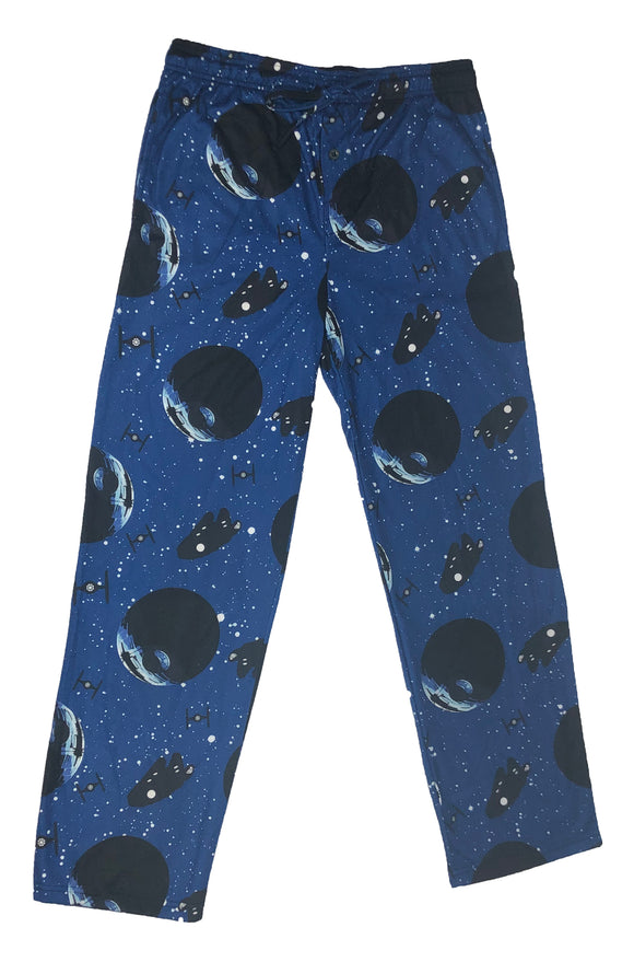 Star Wars Millennium Falcon Death Star Space Pajama Bottom Men's Lounge Pants - tshirtconnect