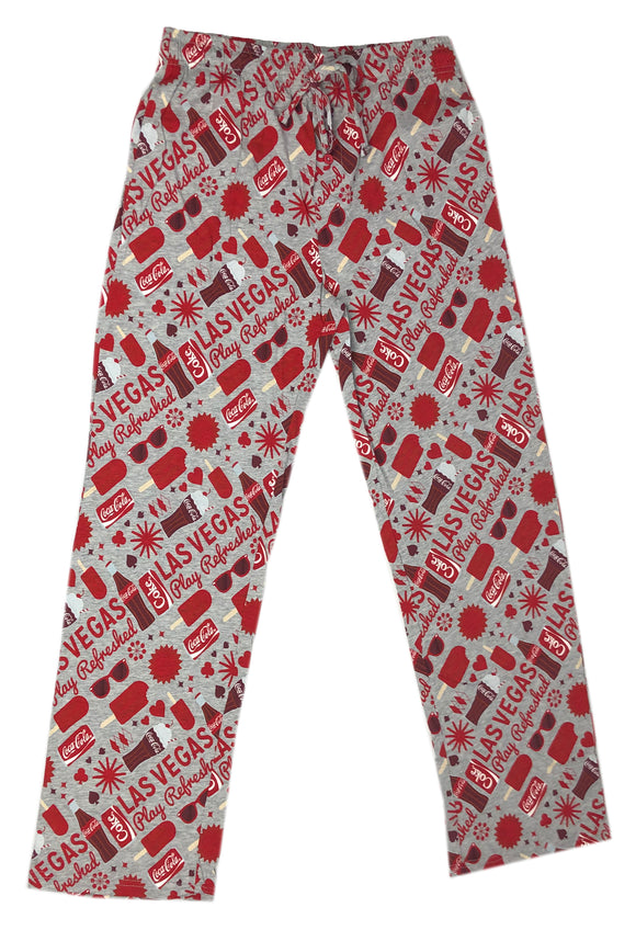 Coca Cola Logo All Over Las Vegas Pajama Bottom Men's Lounge Pants - tshirtconnect