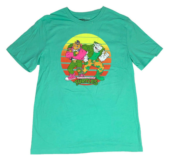 Teenage Mutant Ninja Turtles Men's T Shirt Bebop Rocksteady TMNT Graphic Tee - tshirtconnect