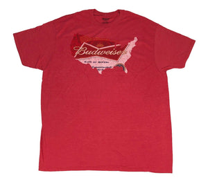 Budweiser Men's T Shirt Beer Can USA Silhouette Logo King Of Beers - tshirtconnect