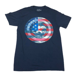 Marvel Captain America USA Shield Logo Men's T Shirt - tshirtconnect