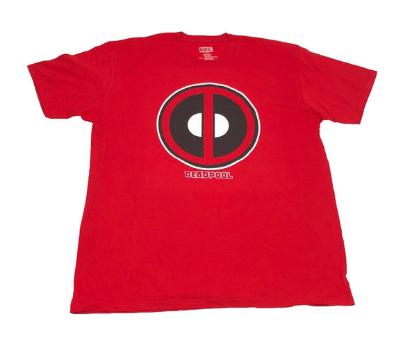 Marvel Men's T Shirt Deadpool Kawaii Icon Face Logo Graphic Tee - tshirtconnect