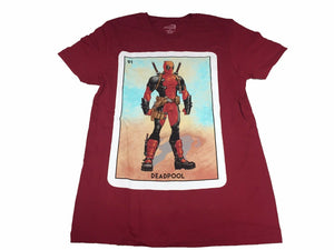 Marvel Men's T Shirt Deadpool 91 Playing Card Portrait Vintage Comic - tshirtconnect