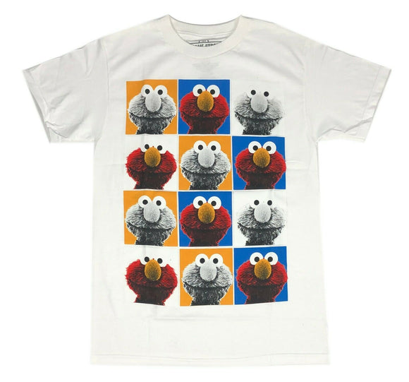 Sesame Street Men's T Shirt Elmo Portrait Squares Graphic Tee - tshirtconnect