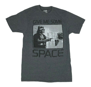Star Wars Men's T Shirt Darth Vader Leia Give Me Some Space Graphic Tee - tshirtconnect