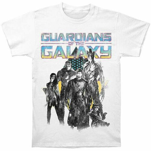 Marvel Men's T Shirt Guardians Of The Galaxy Group Shot Logo Distressed - tshirtconnect