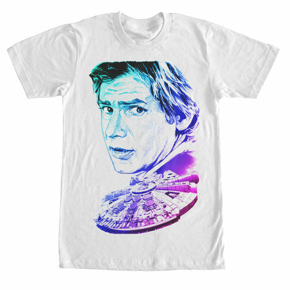 Star Wars Men's T Shirt Han Solo Colorful Portrait New Movie - tshirtconnect