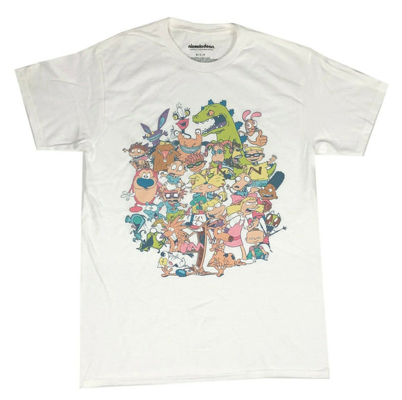 Nickelodeon Men's T Shirt Hey Arnold Rugrats Real Monsters Rocko Ren Stimpy - tshirtconnect