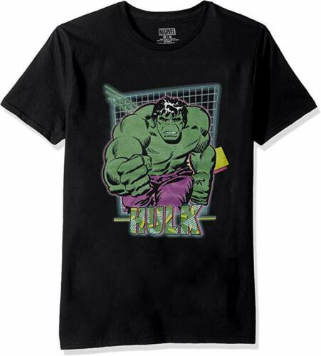 Marvel Comics Hulk Grid Logo Men's T Shirt Graphic Tee - tshirtconnect