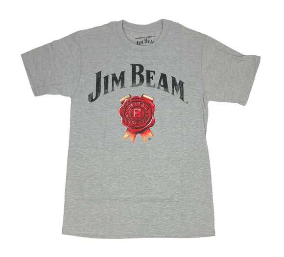 Jim Bean Men's T Shirt Logo Seal Bourbon Whiskey Kentucky Alcohol Distressed - tshirtconnect