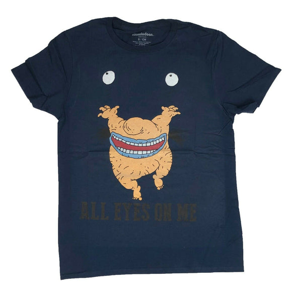 Nickelodeon Real Monsters Men's T Shirt Krumm All Eyes On Me Navy Graphic Tee - tshirtconnect