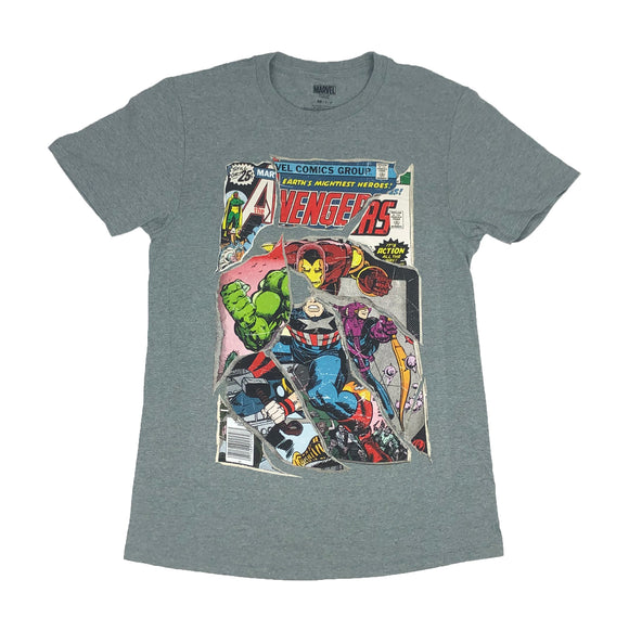Marvel Mens T Shirt Comic Book Cover Avengers Iron Man Hulk Thor Captain America