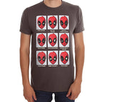 Marvel Men's T Shirt Deadpool Expressions Graphic Tee