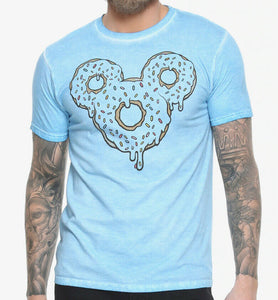 Disney Men's Shirt Mickey Mouse Sprinkle Donut Logo Disneyland Disneyworld - tshirtconnect