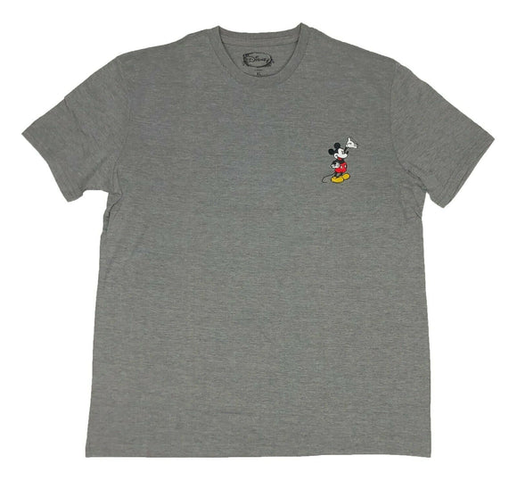 Disney Men's T Shirt Mickey Mouse Embroidery Logo Disneyland - tshirtconnect