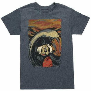 Disney Men's T Shirt Mickey Mouse Tidal Wave Painting Disneyland Disneyworld - tshirtconnect