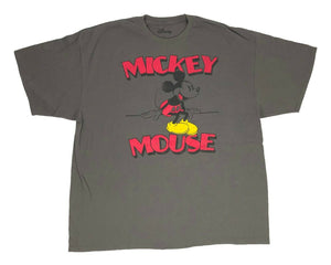 Disney Mickey Mouse Men's T Shirt Sitting Logo Disneyland Graphic Tee - tshirtconnect