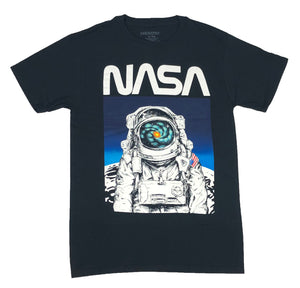 NASA Men's T Shirt Astronaut Portrait Moon Landing Outer Space Graphic Tee