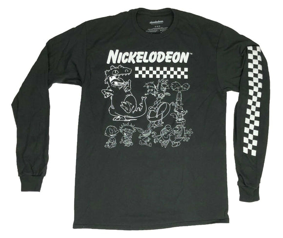 Nickelodeon Hey Arnold Ren Stimpy Rocko Rugrats Men's Long Sleeve T Shirt - tshirtconnect