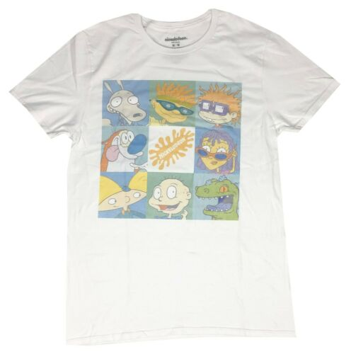 Nickelodeon Men's T Shirt Retro Squad Distressed Squares Graphic Tee - tshirtconnect