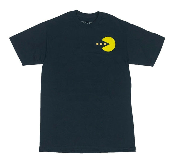 Pacman Men's T Shirt Ghost Chest Logo Retro Vintage Arcade Video Game Graphic Tee - tshirtconnect