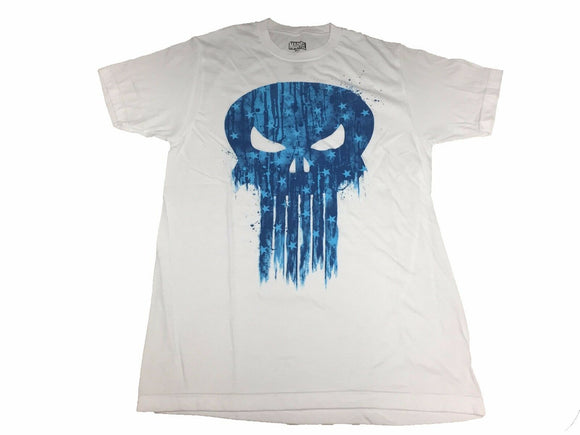 Marvel Men's T Shirt Punisher Dripping Star Skull Logo War Zone Frank Castle - tshirtconnect