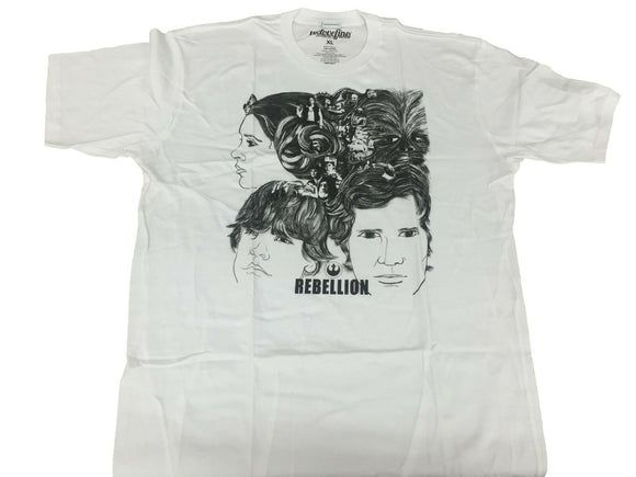 Star Wars Men's T Shirt Luke Leia Han Solo Chewwy Rebellion Sketch Movie - tshirtconnect