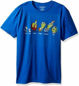 Nickelodeon Rockos Modern Life Group Shot Men's T Shirt Graphic Tee - tshirtconnect