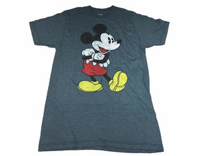 Disney Mickey Mouse Cheerful Happy Retro Distressed Men's T Shirt - tshirtconnect