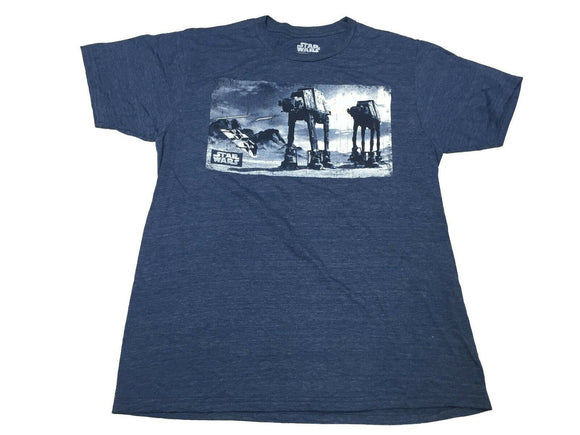 Star Wars AT-AT Walker vs. Speeder Movie Scene Men's T Shirt - tshirtconnect