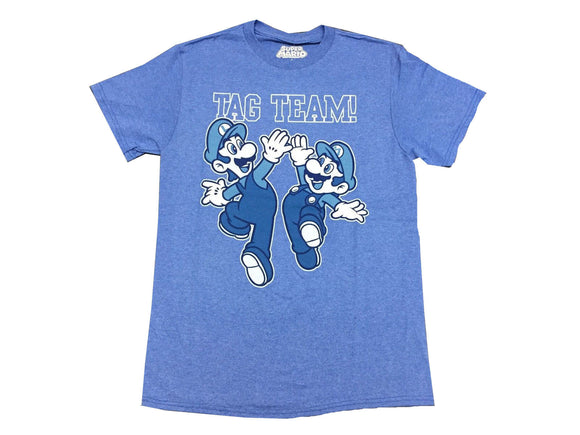 Super Mario Bros Tag Team Men's T Shirt - tshirtconnect