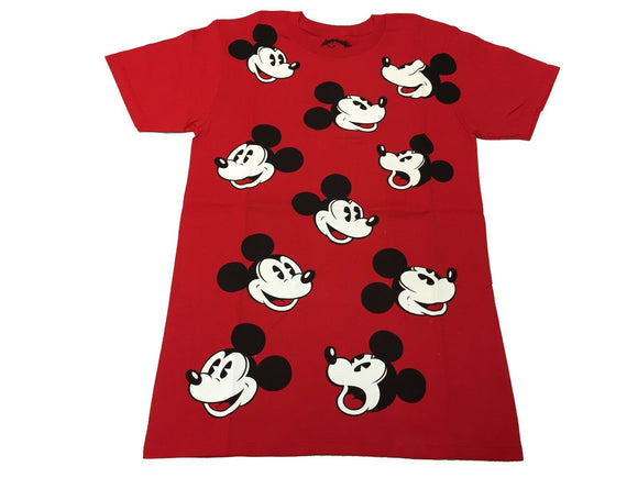 Disney Men's T Shirt Retro Mickey Mouse Face All Over Vintage Cartoon - tshirtconnect