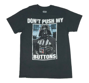 Star Wars Darth Vader Don't Push My Buttons Men's T Shirt - tshirtconnect