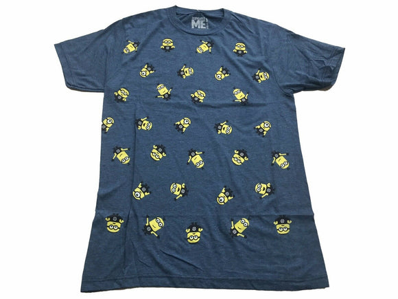 Disney Despicable Me Minions All Over Front Men's T Shirt - tshirtconnect