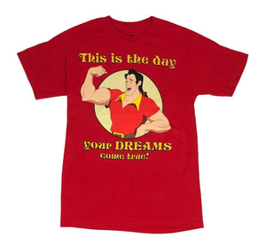Disney Beauty And The Beast Men's T Shirt Gaston Dreams Come True - tshirtconnect